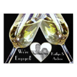 Champagne Toast/ Engagement Announcement 13 Cm X 18 Cm Invitation Card
