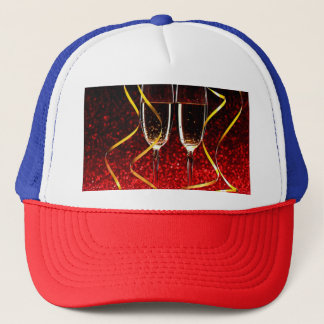 Champagne Toast on New Years Day Trucker Hat