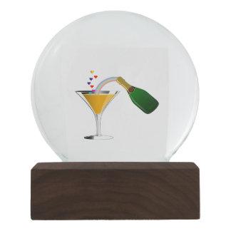 Champagne Toast Snow Globe