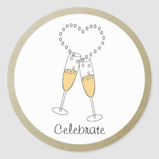 Champagne Toast Sticker