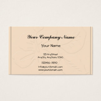 Champagne Tone on Tone Hibiscus Business Card