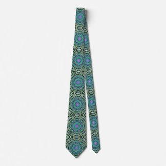 Champagne Web Mandala Tie