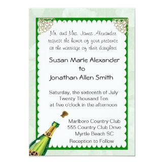 """Champagne Wedding Invitation 5"""" X 7"""" Invitation Card"""