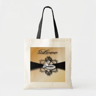 Champagne Wedding Save the date and Favor Budget Tote Bag