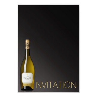 Champagne Wine Minimalism Chic Glam Ombre Vip Card