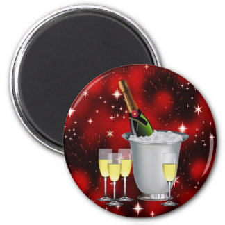 CHAMPAGNE WISHES ~ 2 INCH ROUND MAGNET