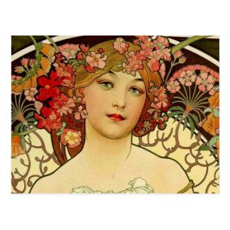 Champagne Woman 1897 - F. Champenois Imprimeur Postcards