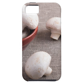 Champignon mushrooms and onions on the table tough iPhone 5 case