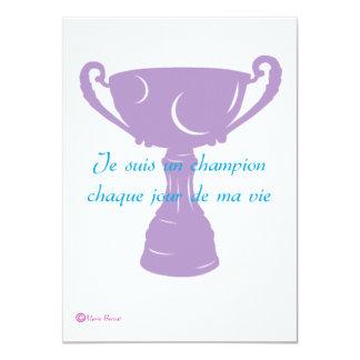 Champion 11 Cm X 16 Cm Invitation Card