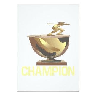 Champion 13 Cm X 18 Cm Invitation Card
