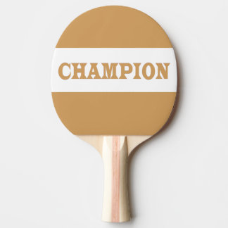 CHAMPION Black Rubber Back Pin Pong Paddle