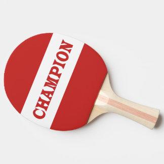 CHAMPION Black Rubber Back Pin Pong Paddle