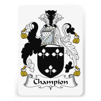 Champion Family Crest Custom Announcement