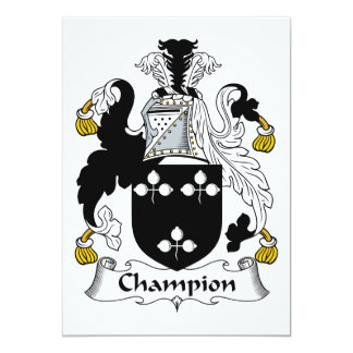 Champion Family Crest Personalized Announcements