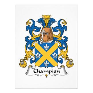 Champion Family Crest Custom Invites