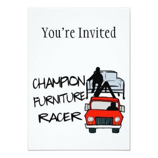 Champion Furniture Racer 13 Cm X 18 Cm Invitation Card