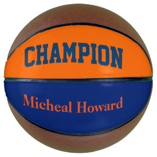 champion in dark blue and orange basketball