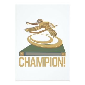 "Champion 5"" X 7"" Invitation Card"