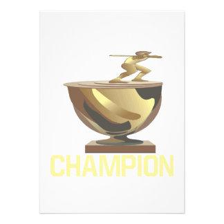 Champion Personalized Announcement