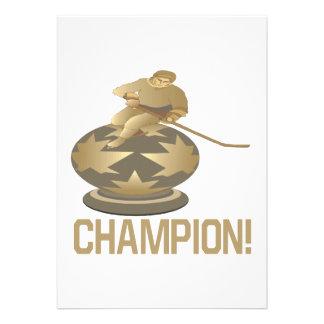 Champion Personalized Invitations