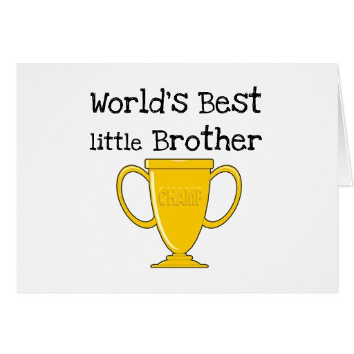 Champion Little Brother T-shirts and Gifts Greeting Cards