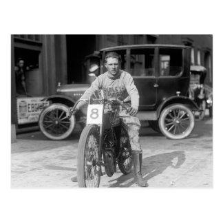 Champion Motorcycle Racer, 1922 Postcard