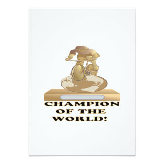 Champion Of The World 13 Cm X 18 Cm Invitation Card