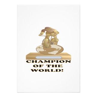 Champion Of The World Custom Invites