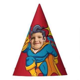 Champion Superhero Photo Template Birthday Party Hat