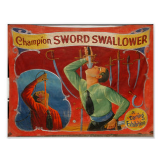 Champion Sword Swallower Poster