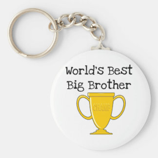 Champion World's Best Big Brother Basic Round Button Key Ring