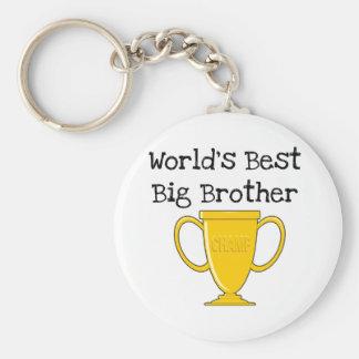 Champion World's Best Big Brother Basic Round Button Key Ring