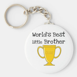 Champion World's Best Little Brother Basic Round Button Key Ring