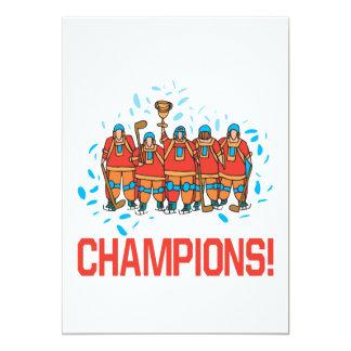 Champions 13 Cm X 18 Cm Invitation Card