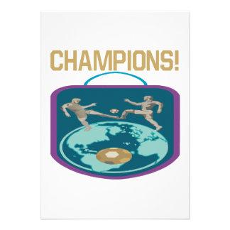 Champions Personalized Invitations