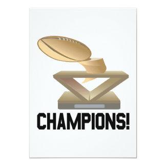 "Champions 5"" X 7"" Invitation Card"