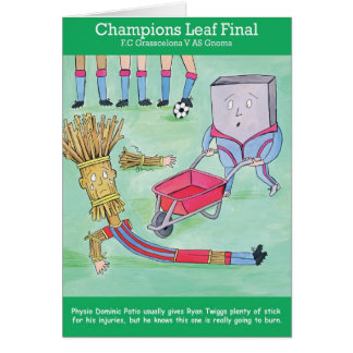 Champions Leaf Greetings Card