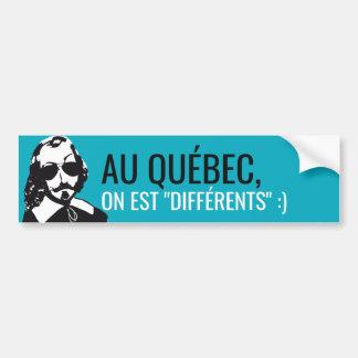 Champlain Hipster Québc different - YOUR TEXT! Bumper Sticker