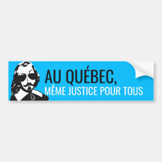 Champlain Hipster Quebec Justice - YOUR TEXT! Bumper Sticker
