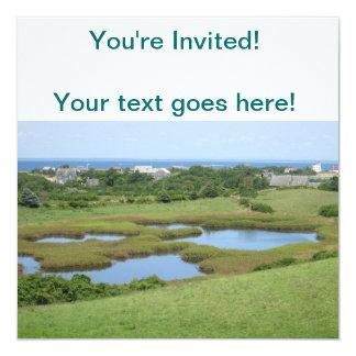 Champlin Road Meadow Block Island 13 Cm X 13 Cm Square Invitation Card