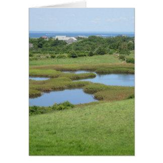 Champlin Road Meadow Block Island Card