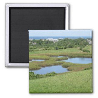 Champlin Road Meadow Block Island Fridge Magnet