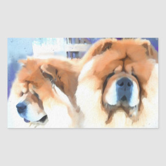 CHANCE AND CHLOE STICKERS large rectangle