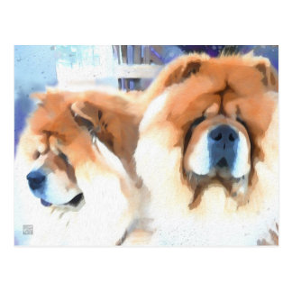 CHANCE & CHLOE heARTdog chow postcard