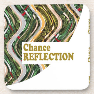 CHANCE REFLECTION : Words Impact ALL SHARE JOY Drink Coasters