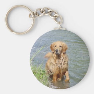 Chance ~ the Golden Retriever Key Ring