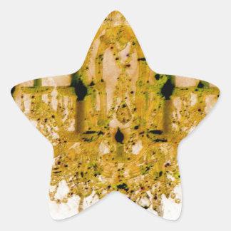 Chandelier and swirls - autumn colors star sticker