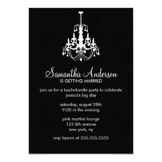 Chandelier Bachelorette Party Invitations