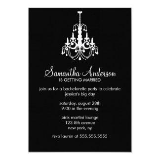 Chandelier Bachelorette Party Invitations