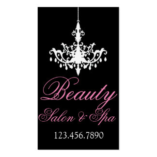 Chandelier Beauty Salon and Spa Business Cards